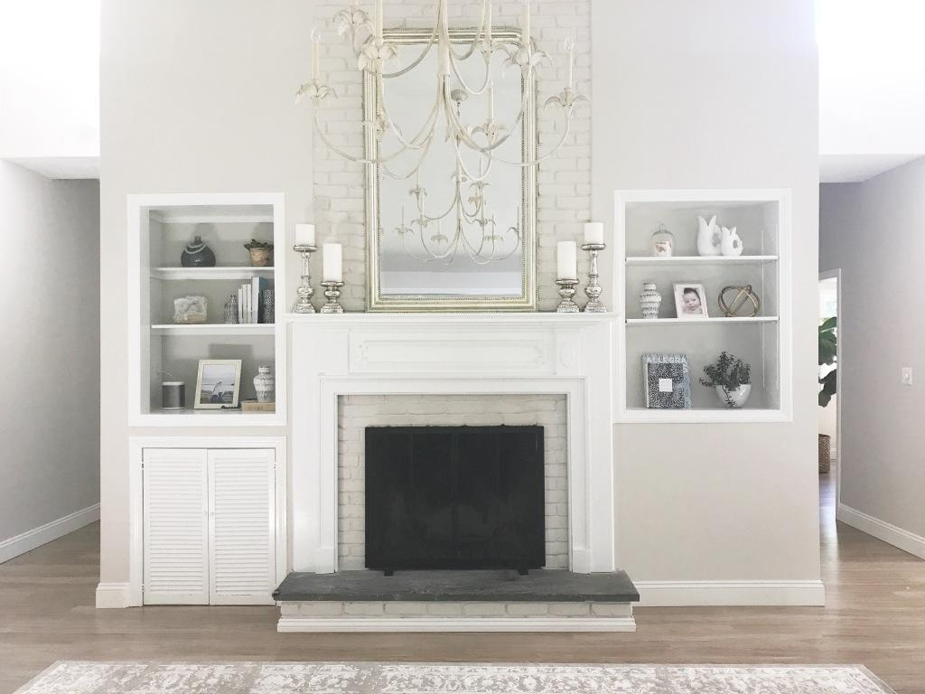 Before and After: Living Room Fireplace Wall – Brianne Johanson