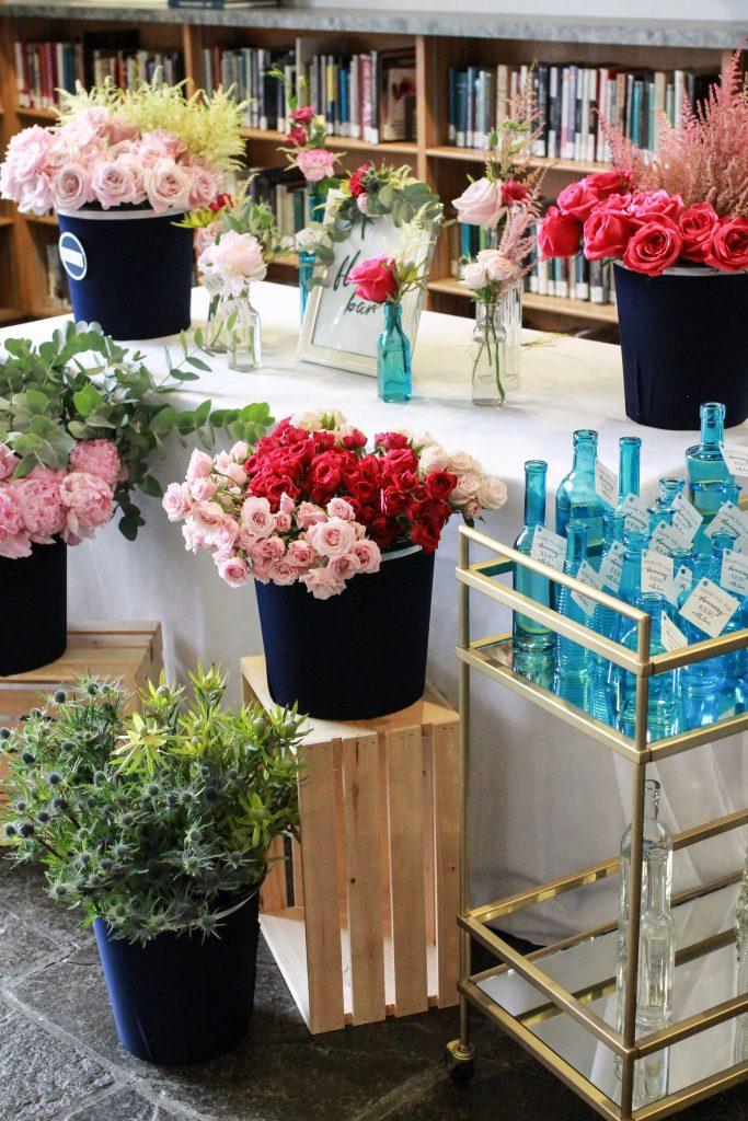 flower bar bridal shower idea favors activities