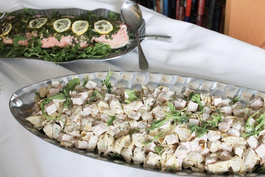 turkey artichoke and salmon bridal shower food
