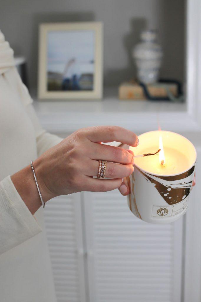 Brianne Johanson E.B. Horn Bracelet and Rings Candle