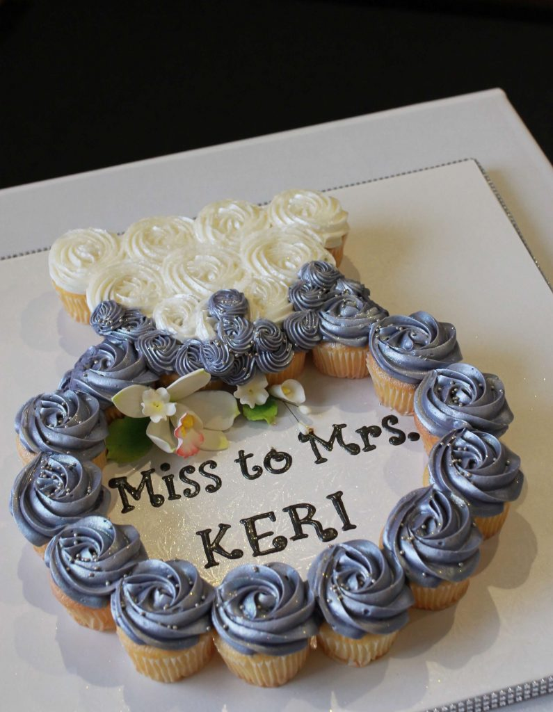 engagement ring cupcake bridal shower dessert idea cake miss to mrs